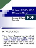 Human Resource Management Intro