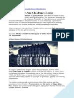 Gothic Horror and Children's Books.docx