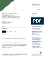 Infojus - Exencion de Derecho Aduaneros a La Importacion de Equipos Para Radioaficionados