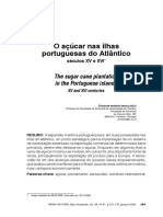 O Açucar Nas Ilhas Do Atlantico