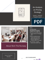 Rent the Runaway Pricing Strategy