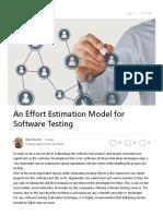 An Effort Estimation Model for Software Testing