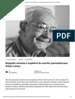 2--Biografia Remonta a Trajetória Do Escritor Pernambucano Gilvan Lemos _ PorAqui