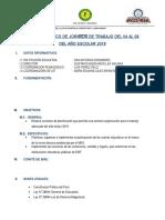 PLAN ESPECÍFICO DE PLANIFICACIÓN  PRIMERA SEMANA 2019.docx