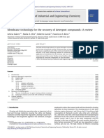 Membrane Technology for the Recovery of Detergent Compounds_ a Review