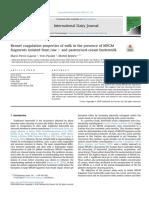 Rennet Coagulation Properties of Milk in the Presence of MFGM