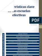3. Características Clave de Las Escuelas Efectivas