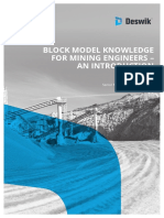 Block Model Knowledge for Mining Engineers an Introduction 1