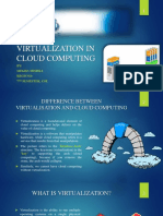 Virtualisation in Cloud Computing