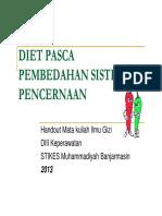 Diet Pasca Pembedahan Sistem Pencernaan [Compatibility Mode]