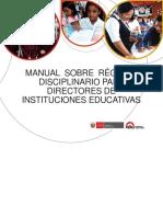 Manual Régimen Disciplinario Para Directores