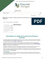 Pencom - Visual Basic for Application Serial Port Software Example