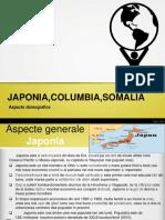 Japon,Columbia,Somalia