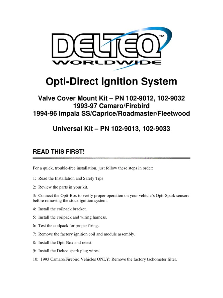 1993 Optispark Wiring Diagram 1994 Camaro Lt1 Firing Order Ignition On