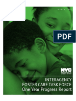 Interagency Foster Care Task Force One Year Progress Report