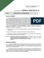 Ejercicio Practico 12 Estructura Financiamiento