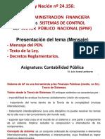 Ley 24156 Mensaje - Modelo UnSa