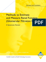 Methods to estimate and measure renal function....