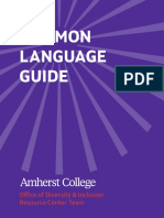 Amherst College Common Language Guide
