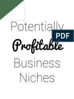 Profitable Business Niches