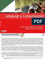 El discurso emitido en situación pública de comunicación