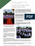 Burma Update - USDP Claimed Victory - 27 Oct 2010