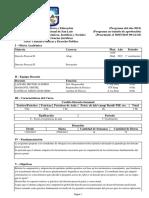 Programa Derecho Procesal II 2015