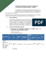 Ejecución Presupuestal (Consulta Amigable) de La Provincia Jorge Basadre