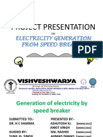 Speed Breaker Power Generation  PPT