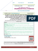 Research paper heparin induced thrombocytopenia