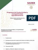 Programa de Productividad y Competitividad Agroalimentaria