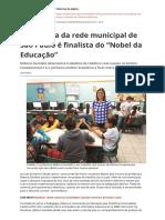 Professora Da Rede Municipal de Sao Paulo e Finalista Do Nobel Da Educacao