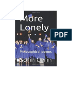 More Lonely-Philosophical poems by Sorin Cerin