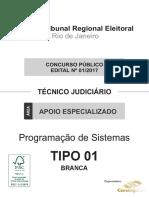 43306 Consulplan 2017 Tre Rj Tecnico Judiciario Programacao de Sistemas Prova