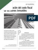Costo fiscal de bienes inmuebles