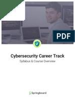 Springboard Cybersecurity Career Track Syllabus