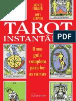O Tarot Instantâneo com cartas modelo