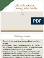La Música en Grecia, Roma y Edad Media 2º Eso Internet