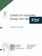 Incinerator Design
