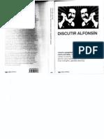 Discutir Alfonsin - Gsrgarella