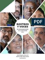 Rostros y Voces de Organizaciones de la Sociedad Civil