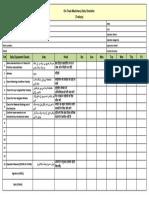 Rail Trolley Checklist