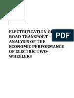 Analisis de Rendimiento Economico Moto Electrica