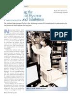Understandingt he Mechanisms of Hydrate Nucleationa nd Inhibitation