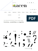 Cursiva Comillas o Negrita - ACEN Editorial