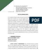 Modelo 1 Acta Audiencia Única