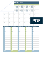 Week and Month Planner
