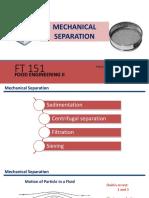 Mechanical Seperations FT 151