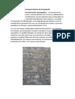 Conceptos Básicos de Estratigrafía
