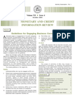 Monetary and Credit Information Review